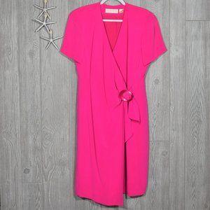 Dana Buchmann Pink Silk Dress Size 12